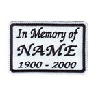 IN MEMORY CUSTOM NAME TAG (WHITE) EMBROIDERED PATCH