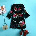 Ladies 2015 winter fall fashion Flower embroidery coat jacket parka trench S-3XL