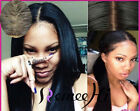 Charming Silky Straight 100% Human Hair Lace Front Wig Full Lace Wig baby hair