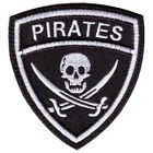 PIRATES CREST BADGE FLAG EMBROIDERED PATCH