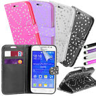 Glitter Sparkle Flip Stand Cover Leather Wallet Case for Samsung Galaxy S5 Mini