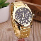 New Luxury Men Women Geneva Analog Gold Round Sport Quartz Wrist Watch