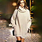 Womens Long Sleeve Oversized Sweatshirt Long Sweater Jumper Dress Knitwear Tops