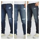 Mens made in USA tapered denim jeans  distressed cuthe 100% Cotton