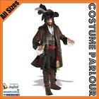 Mens Deluxe Jack Sparrow Pirate Buccaneer Fancy Dress Costume All Sizes
