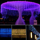3M*1M 150 LED Waterfall Icicle Hanging String Fairy Light Curtain Xmas Tree Lamp