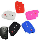 4 BTN FIT FOR LEXUS SILICONE SMART KEY FOB CASE SHELL COVER IS250 GS RX ES GX CT