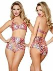 Pink Leopard Vintage Look Pin Up Girl Swimsuit NEW SML Free USA Shipping