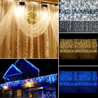 3M*1M 150 LED Snowing Icicle Fairy Lights Indoor Outdoor Christmas Hanging Decor