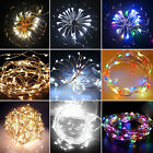 20/30/40100LED Battery Operated Copper Wire Christmas Outdoor String Fairy Light