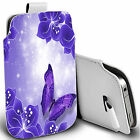 pu leather pull tab pouch case for majority Mobile - magical butterfly pouch