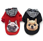 New Fashion Pet Dog Clothes Hooded Coat Cotton Casual Puppy Clothes With Bag