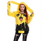 CUPCAKE CULT SPLASH YELLOW HOOD PIKACHU HOODIE GOTHIC LADIES NEW