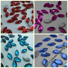 7*15mm Navette Rhinestones Sew On Flatback Crystal Glass Strass Chatons 100ps