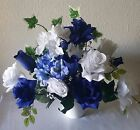 Royal Blue White Table Centerpiece Wedding Decoration