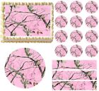 PINK REALTREE REAL TREE AP CAMO PINK Print Edible Cake Topper - All Sizes!
