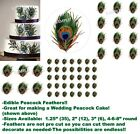 print edible images - Individual PEACOCK FEATHER Print Edible Cake Topper Image-Great for Weddings!