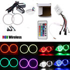 1Pair COB Halo Rings RGB Controller Multi-Color LED Angel Eyes Kit 60mm-140mm