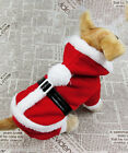 UK Santa Claus Christmas Pet Dog Dress Costume Outfit Clothing Coat Apparel S-XL