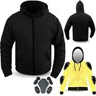 Motorcycle Hoodie Hoody Ful Kavlar Armored Lined Fleece Ultimate Protection