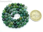 Natural Green Moss Agate Gemstone Round Beads 15'' Strand 4mm 6mm 8mm 10mm 12mm Agate - 10185
