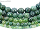 Kyпить Natural Green Moss Agate Gemstone Round Beads 15'' Strand 4mm 6mm 8mm 10mm 12mm  на еВаy.соm