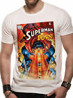 "Official DC Comics Superman ""Burn"" Print Unisex Crew Neck T-shirt Tee Top"