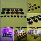 1-50PCS 3W High Power UV ultraviolet 365nm 380nm 395nm black LED Lamp Light