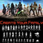 Looks Like Star Wars Family Car Vinyl Decal Sticker Window Laptop Characters $2.59 USD on eBay
