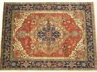 INDIA HAND KNOTTED HERIZ SERAPI PERSIAN ORIENTAL AREA RUG WOOL CARPET RUGS EDH