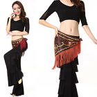 New 2015 Women's Belly Dancing Costumes Lace Stitching 2Pics Top&Pants One Size