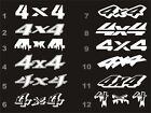 4x4 decals fits Chevy Silverado bedside 12 styles 15 colors $9.54 USD