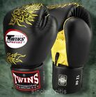 TWINS BOXING GLOVES MUAY THAI FIGHTING MMA FANCY DRAGON PATTERN GENUINE LEATHER