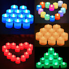 HA 12PC Hot Flameless Flickering LED Tea Light Candles Battery Operated TeaLight