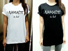 Namaste in bed Shirt Yoga fitness Gym Gift Womens T Shirt Tshirt Short Sleeve