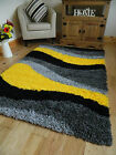 SMALL MEDIUM X LARGE YELLOW THICK SOFT HEAVY BRIGHT QUALITY SHAGGY AREA RUG MAT