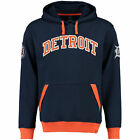 Majestic Detroit Tigers Navy Reach Forever Cooperstown Pullover Hoodie