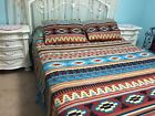 Southwest Mesa Santa Fe Lightweight Fleece Coverlet Bed Cover Blanket & Sham Set image