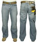 MENS BRAND NEW BOOTCUT JEANS FBM IN LIGHT WASH COLOUR SALE PRICE ALL SIZES