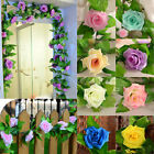 Artificial Silk 8.2ft Rose Flower Ivy Vine Leaf Wedding Garland Party Fashion