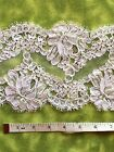 Bridal Lace Fabric Trim-French Alencon-White color-Sold/Priced by 1/2 yard