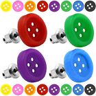 2 Stud Earrings Buttons 9 different shiny colours also for kids