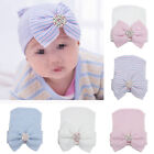 Newborn Baby Infant Girl Toddler Bowknot Diomand Hospital Cap Beanie Hat Gift