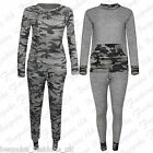 Ladies Women's Camouflage Army Sweatshirt & Joggers Pants Tracksuit Set 8 to 28