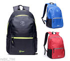 20L RETRO DAY BACKPACK BAG SCHOOL COLLAGE TRAVEL WORK OUTDOOR ZIP RUCKSACK LIGHT