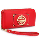 New Single Zip Faux Leather Women Purse Designer Ladies Girl Wallet Coin Cards