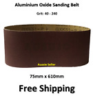 10pcs 75mm X 610mm Sanding Belts 40 - 240 Mixed Grit Heavy Duty Cloth Backed