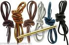 Genuine Tan Leather Shoelaces & NEEDLE 3mm Square Boot Laces Shoe Laces UK MADE