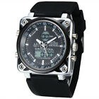 3ATM Design Luxury Oversize Square Dial Rubber Sports Mens Digital Watches