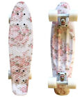 "LMAI 22''/27""Cruiser Skateboard Graphic Floral Pink Flower Penny Style Board image"